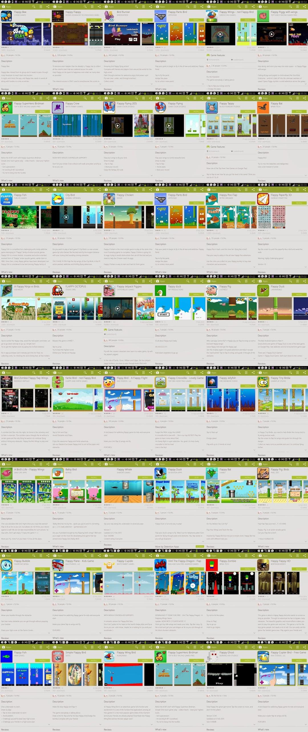 ohdeargod Flappy Bird some da Play Store, mas deixa dezenas de clones
