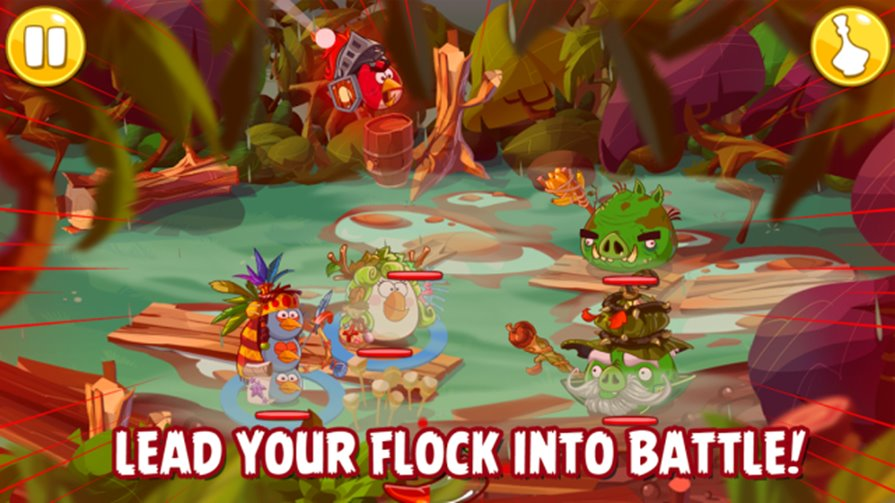 "Angry-birds-epic-android-ios-1 Angry Birds Epic (Android, iOS, Windows Phone) parece com um RPG no ""estilo"" Final Fantasy"