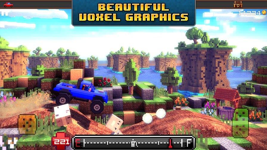 Blocky-Roads-Android Jogos de Minecraft: 10 games para Android parecidos ou inspirados no clássico