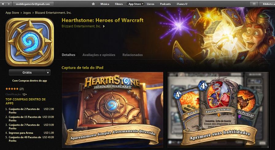 Hearthstone-App-Store-BR Hearthstone chega na App Store do Brasil em grande estilo