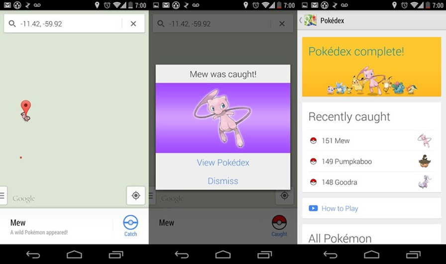 pokemon-google-maps-android 1º de Abril do Google é um jogo de Pokémons no Google Maps