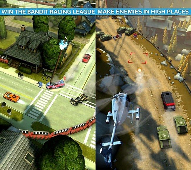 smash-bandits-racing-android-1 Jogos para Android Grátis - Smash Bandits Racing