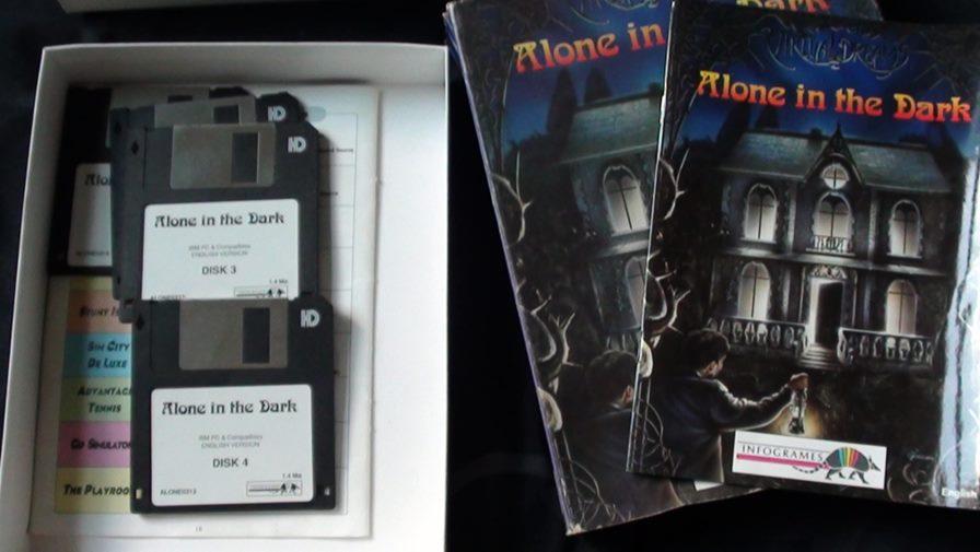 alone-in-the-dark-disquetes Alone in the Dark chega na App Store custando apenas um dólar