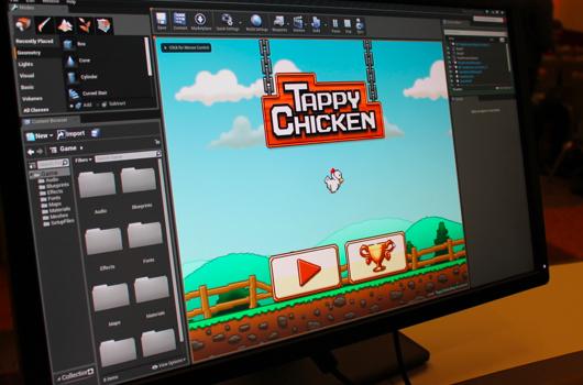 tappychicken530 Unreal Engine 4: Primeiro Jogo para Smartphones é um Clone de Flappy Bird