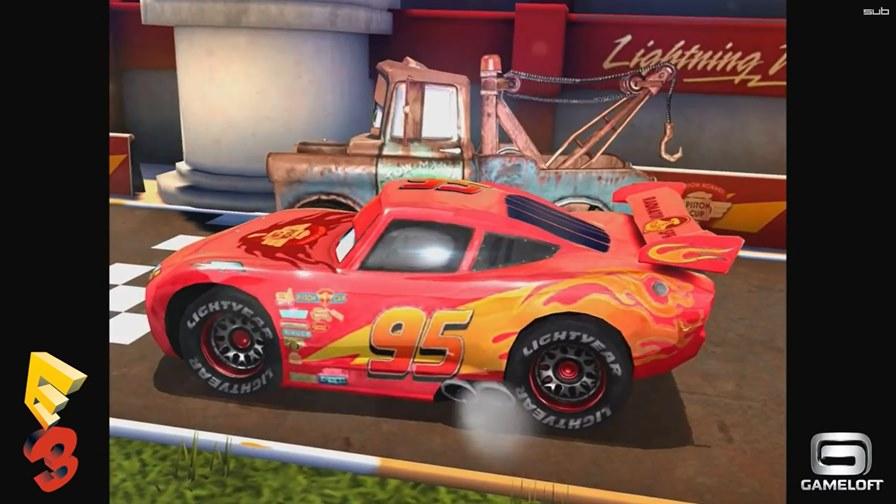 """cars-fast-and-lightning-android-ios-wp E3 2014: Veja gameplay do jogo de """"Carros"""" produzido pela Gameloft (Android, iOS e WP)"""