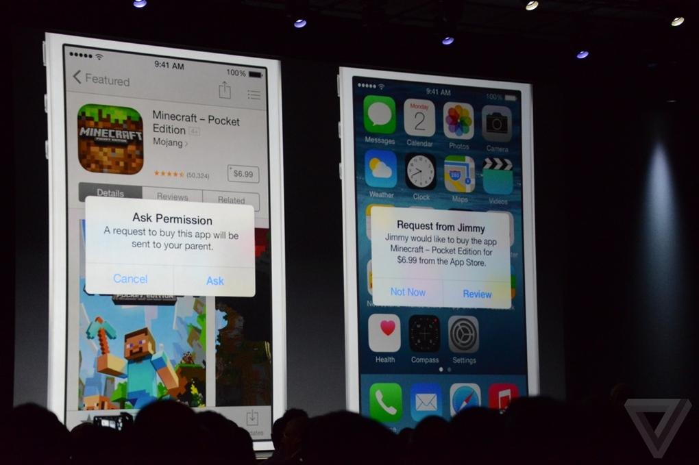 family-sharing-apple-wwdc-2014-93_verge_super_wide Novidades do iOS 8: Compartilhamento de jogos, Testflight, pacotes de jogos e sem OpenGL