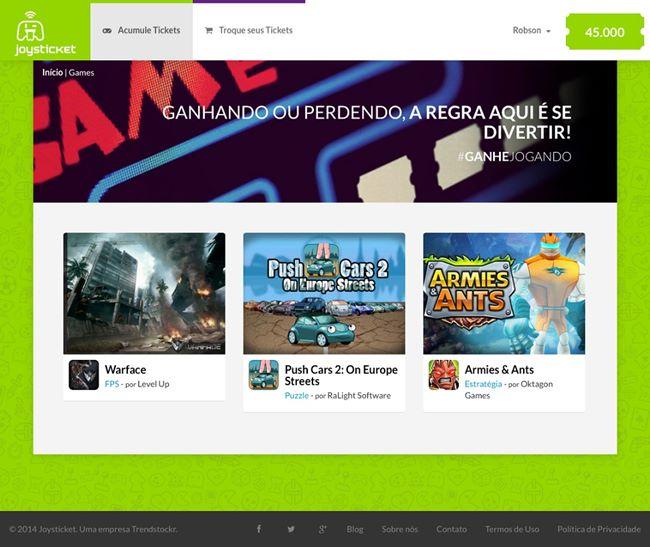 Games-Joysticket Joysticket: empresa nacional dá prêmios em produtos para quem gosta de jogar no smartphone ou tablet