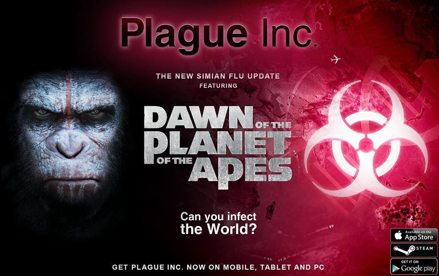 plague-inc-planeta-dos-macacos-android-ios Plague Inc, jogo de epidemias para Android e iOS, terá virus do filme Planeta dos Macacos