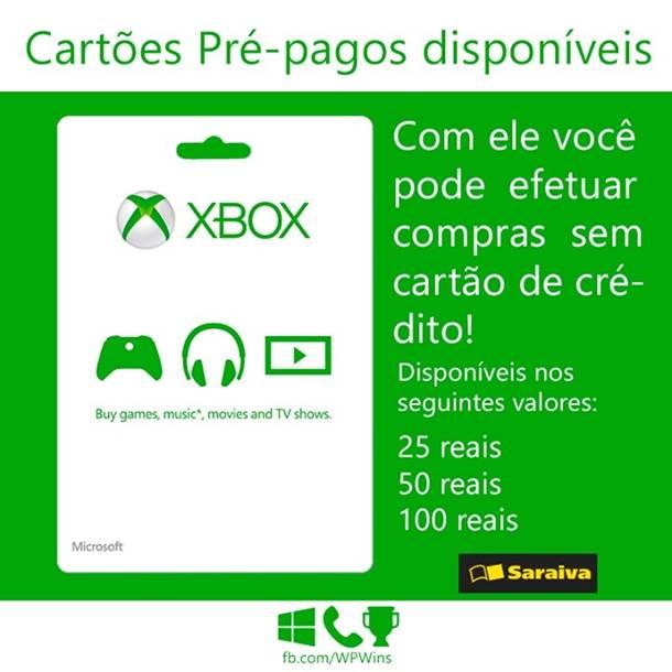 Card-Xbox Como comprar jogos para Windows Phone sem cartão de crédito