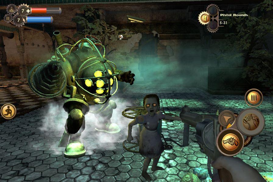 """bioshock-ios Bioshock chega ao iOS com versões apenas para aparelhos """"top"""""""