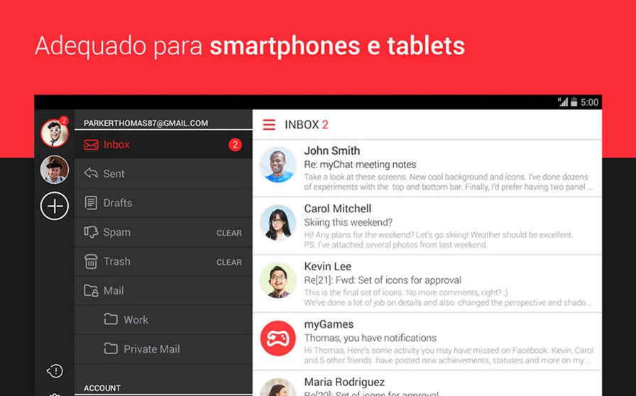mymail-android-ios-01 myMail: Dica de Aplicativo de e-mail para Android e iOS