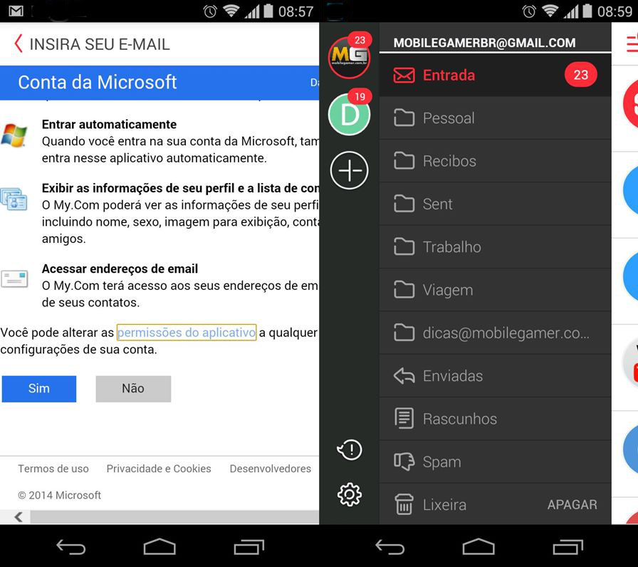 mymail-android-ios-02 myMail: Dica de Aplicativo de e-mail para Android e iOS
