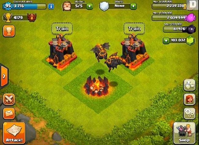 Lava-Hound-flying-pig-clash-of-clans Melhores Jogos para Android da Semana # 27 - 2014