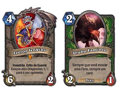 "cartas-nerfadas-hearthstone Hearthstone: Blizzard ""nerfa"" Leeroy e Urubu Faminto"