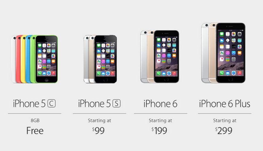 iphone-6-6-plus iPhone 6 é lançado com preço baratinho (mas só nos EUA)