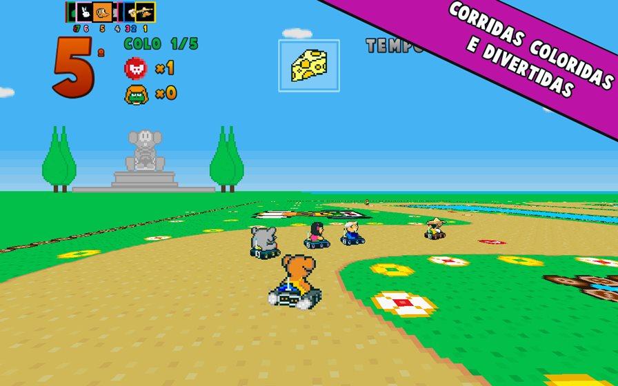 poppy-kart-1 Poppy Kart é um clone de Mario Kart do SNES (Android, iOS e WP)