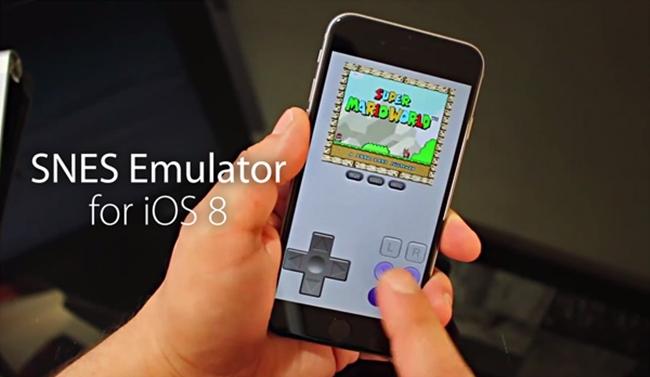 SNES-iPhone-6 Atualização do iOS 8.1 irá bloquear a instalação de emuladores