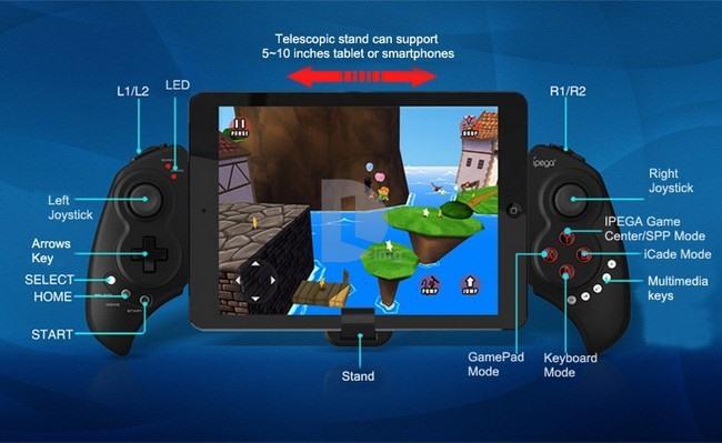 controle-ipega-9023-android-ios-2 Novo controle Ipega 9023 - Ideal para phablets e tablets com Android e iOS