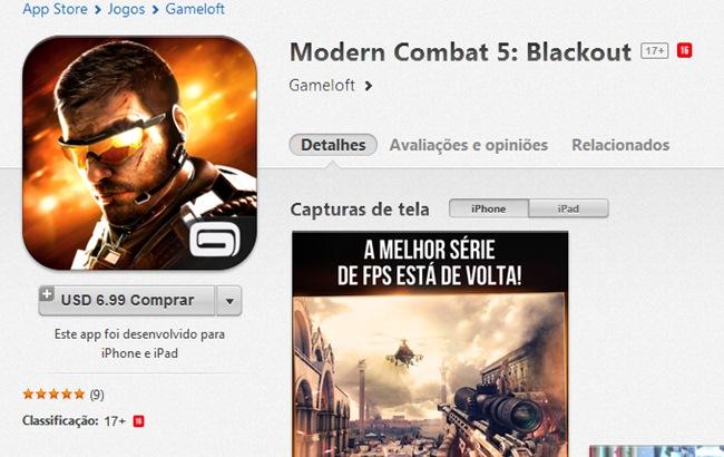jogos-violentos-app-store Modern Combat e outros jogos violentos finalmente chegam a App Store Brasileira