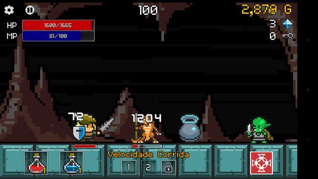 buff-knight-rpg-runner-2 Buff Knight é um jogo gratuito para Android onde você não controla o herói
