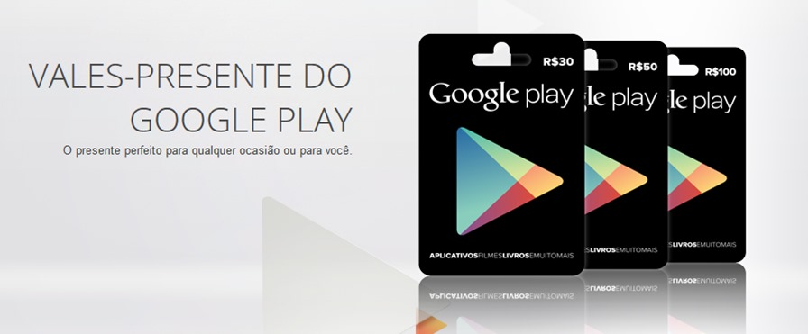 cartoes-google-play-android Google Play: Gift Cards chegaram ao Brasil; Saiba onde comprar