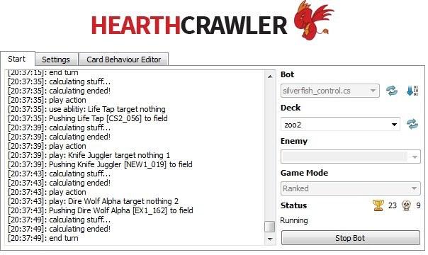 hearthstone-bot-stats Atualmente, Hearthstone é um jogo ruim