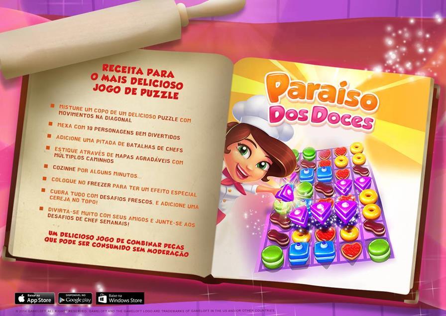 paraiso-dos-doces-android-ios-wp Gameloft lança seu novo jogo de puzzle: Paraíso dos Doces (Android, Windows Phone e iOS)