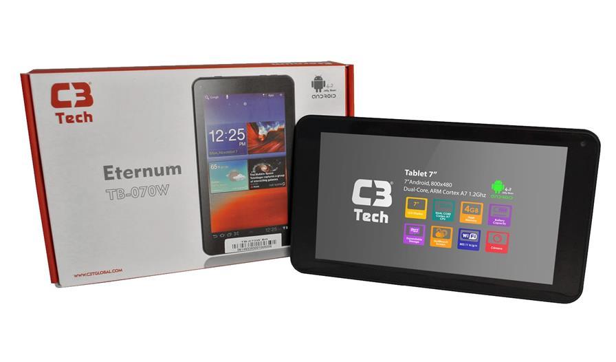 tablet-c3-tech C3 Tech lança tablet barato com preço sugerido de R$ 249 reais
