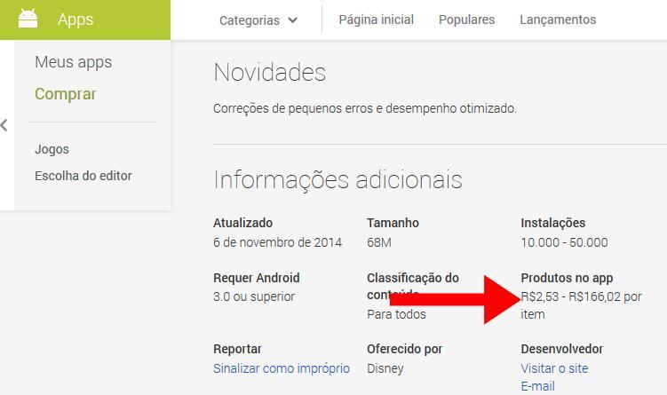 tela-jogo-freemium-para-criancas Google Play agora informa os valores de compras embutidas em um jogo/app