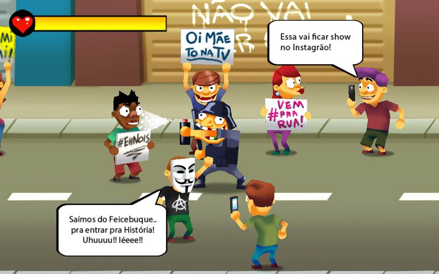 tratamento-de-choque-android-2 Conheça um jogo para Android baseado nas manifestações de junho de 2013