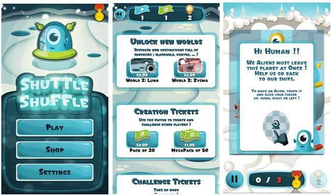 Shuttle_Shuffle_Menu 10 Melhores Jogos para Windows Phone Grátis - Janeiro de 2015