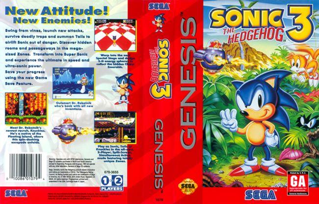 SonicTheHedgehog3cover Sonic 3: Fãs Criam Petição para Port do Jogo no Android e iOS