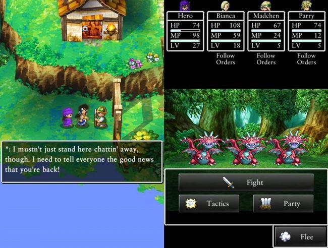 dragon-quest-v-ios-1-horz Melhores Jogos para Android #4 - 2015