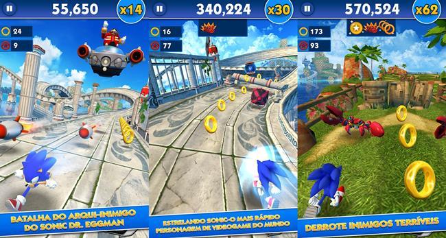 sonic-dash-android 25 Melhores Jogos Grátis para Windows Phone – 2º Semestre de 2014
