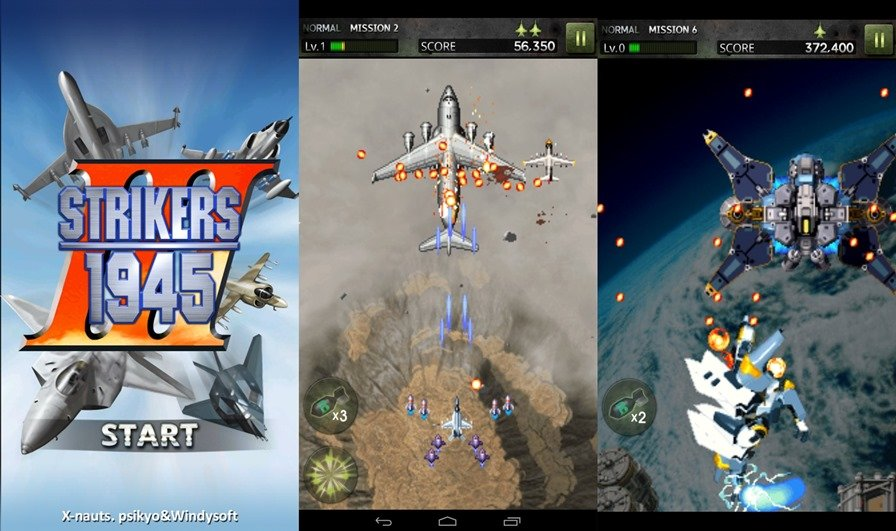 strikers-1945 Strikers 1945-3 é o jogo para Android que lembra o clássico Aero Fighters (Sonic Wings)