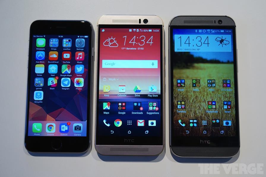 htcm9-vs-iphone6 HTC One M9 e Galaxy S6: Dois novos top de linha para você comprar em 2015