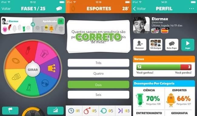 perguntados 25 Melhores Jogos Grátis para iPhone e iPad - 1º Semestre de 2014