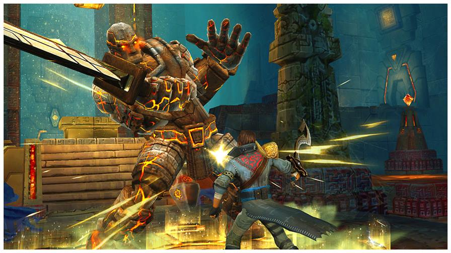 """stormblades-1 Stormblades é um """"Infinity Blade"""" casual para o seu iPhone ou Android"""
