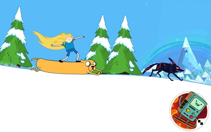 hora-de-aventura-skisafari Os Melhores Jogos da Cartoon Network para Celular e Tablet Android