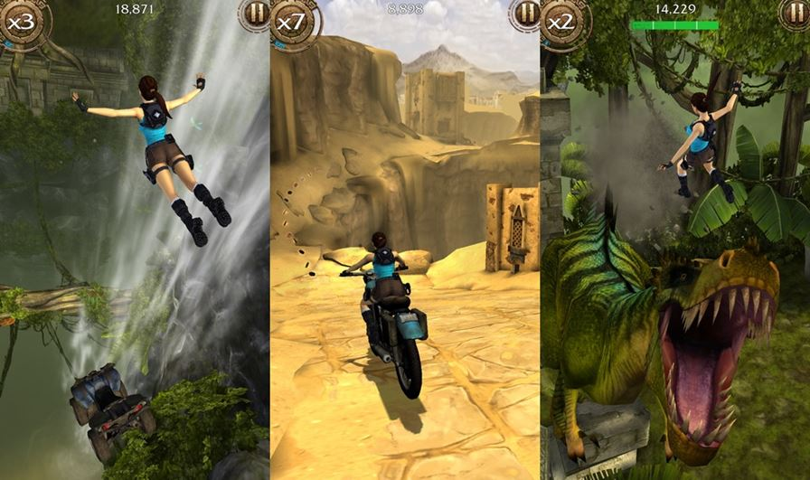 lara-croft-temple-run Lara Croft: Relic Run: Novo jogo de Tomb Raider é liberado para Download (Android, iOS, Windows Phone)