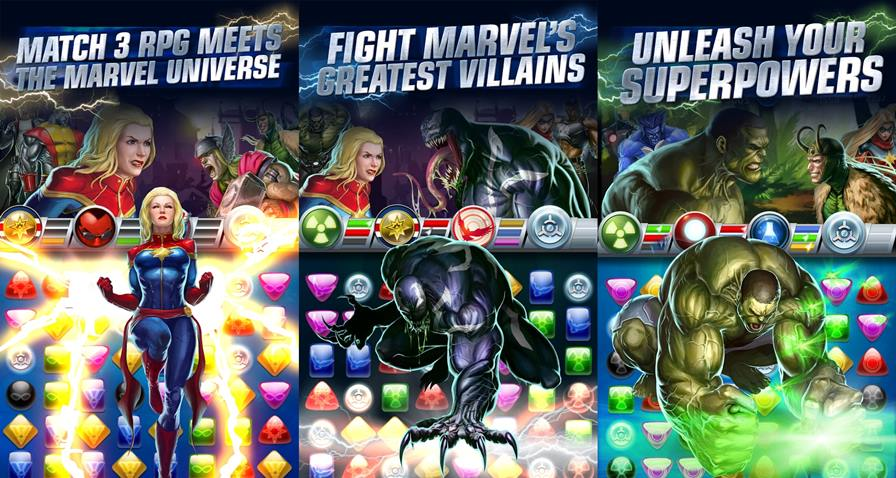 marvel-puzzle-quest Vingadores: Era de Ultron - 10 Jogos para Android com os Personagens do Filme!