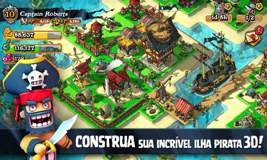 "plunder-pirates-android-ios-1 Plunder Pirates: ""Clash of Clans"" da Rovio tem piratas e é todo em 3D (Android e iOS)"