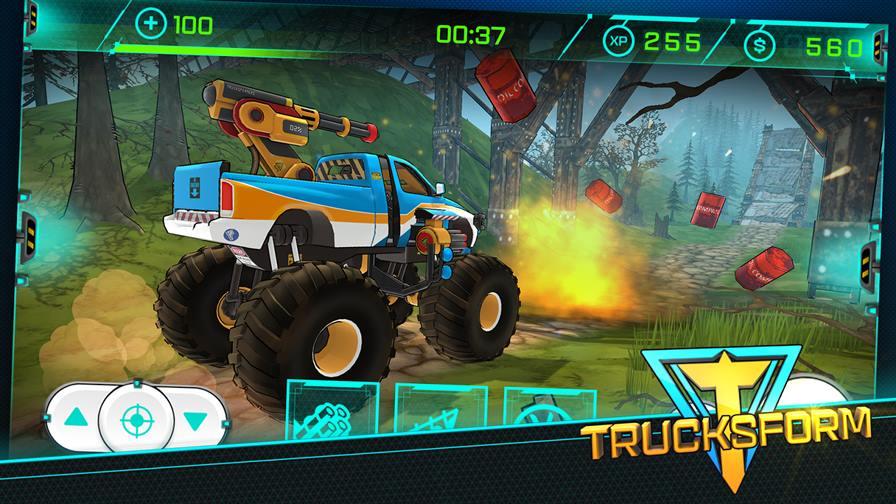 trucksform-1 Trucksform mistura corrida de obstáculos com carros transformáveis
