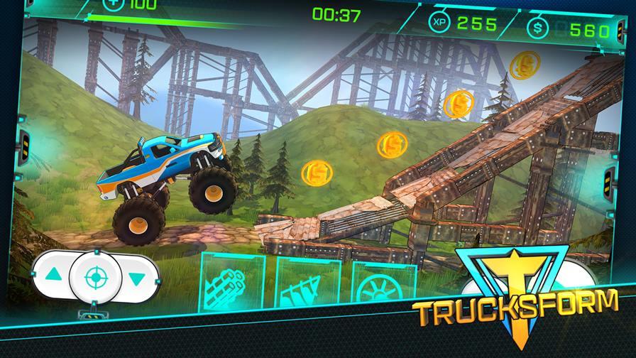 trucksform-2 Trucksform mistura corrida de obstáculos com carros transformáveis