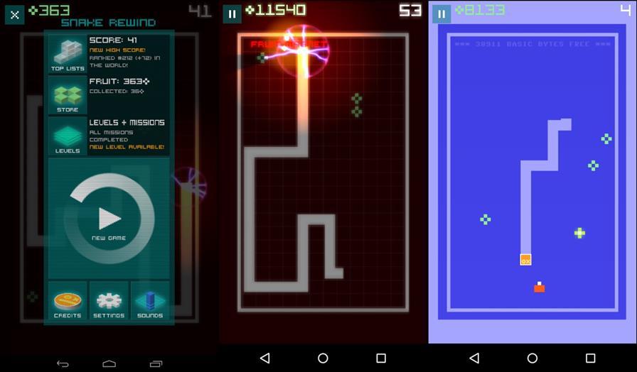 snake-rewind-android 25 Melhores Jogos para Android Grátis - 1º Semestre de 2015