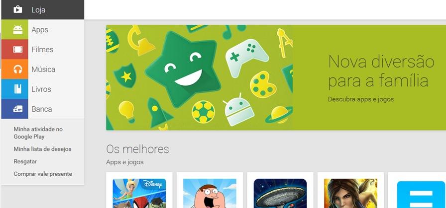 """google-play-jogos-para-criancas-1 Google Play estreia seção """"para crianças"""" com personagens e foco em games"""