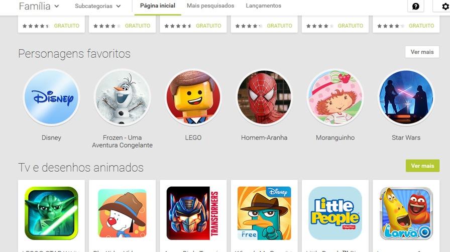 """google-play-jogos-para-criancas-2 Google Play estreia seção """"para crianças"""" com personagens e foco em games"""