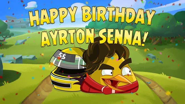 senna-bird Angry Birds Go: Jogue com pássaro inspirado em Ayrton Senna