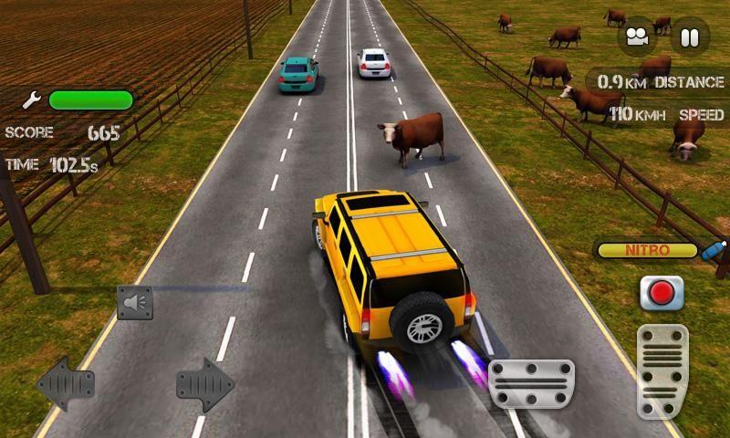 traffic-race-nitro-1 Race The Traffic e Nitro: desvie de carros e vacas nesse jogo para Android