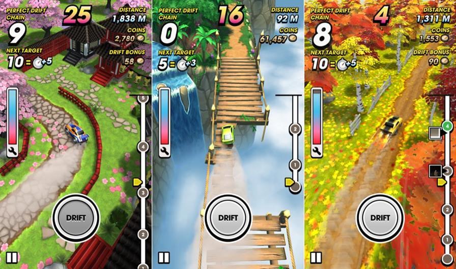 Mega-Drift1 25 Melhores Jogos Grátis para iPhone e iPad - 1º Semestre de 2015
